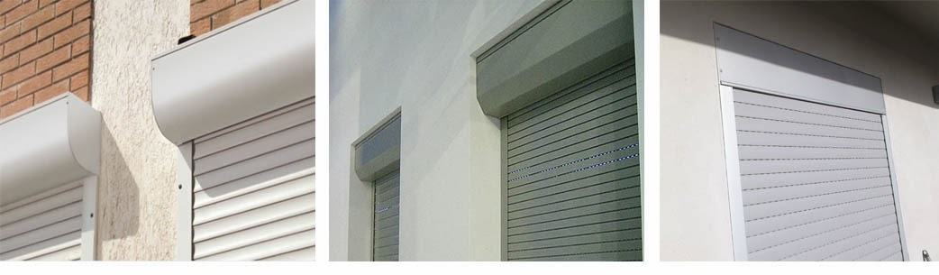 Cassonetto per esterno con tapparella integrata