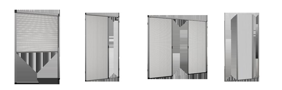 Zanzariere plissettate su misura, vari modelli