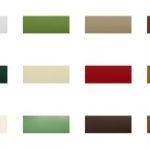 Tapparelle in alluminio colori