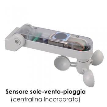Sensore sole-vento-pioggia con centralina - serie S