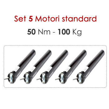 Set 5 Motori tapparelle tende 50 Nm-100kg