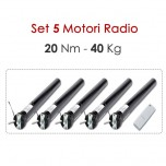 Set 5 Motori Radio - 20 Nm | 40 Kg