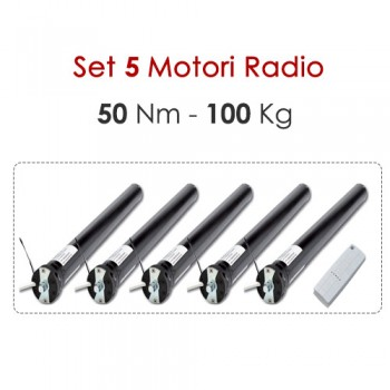 Set 5 Motori Radio - 50 Nm | 100 Kg