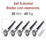 Set 5 Motori Radio Manovra di Soccorso – 30Nm
