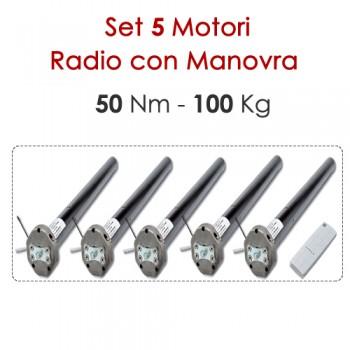 Set 5 Motori Radio con Manovra di Soccorso – 50Nm | 100Kg