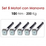 Set 5 Motori con Manovra - 100 Nm | 200 Kg
