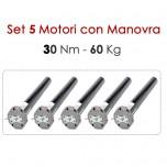 Set 5 Motori con Manovra - 30 Nm | 60 Kg