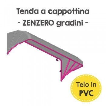Tenda da sole a cappottina in PVC - Zenzero gradini
