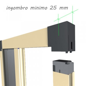 Zanzariera 1 Anta - ingombro 25 mm