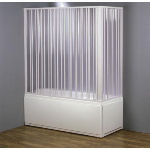 Cabina BOX VASCA PVC in Kit riducibile a due lati apertura ANGOLARE a ...