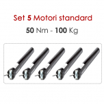 Motori tapparelle tende 50 Nm-100kg.Set 5pz.