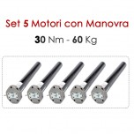 Set 5 Motori con Manovra - 30 Nm | 60 Kg