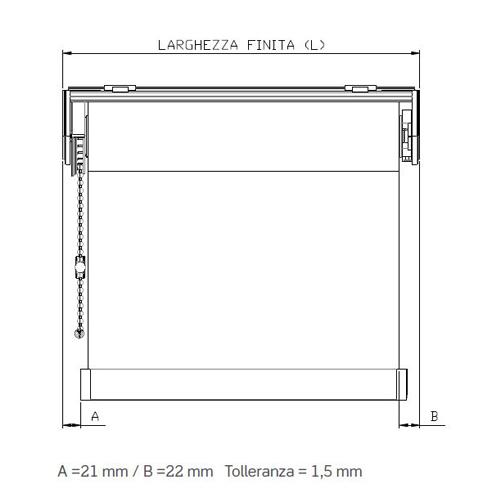 Bastoni tende brico latest bastone tenda in acciaio for Meccanismo tende a rullo ikea
