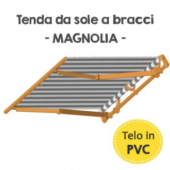 Tenda da sole a bracci in PVC - Magnolia