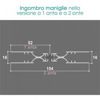 Zanzariera 1 Anta MINI - ingombro 18 mm