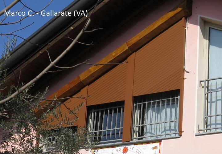 Installazione tapparelle in diagonale